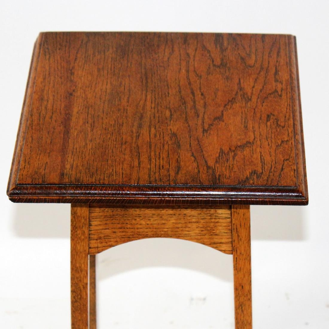 Oak mission style plant stand - 3