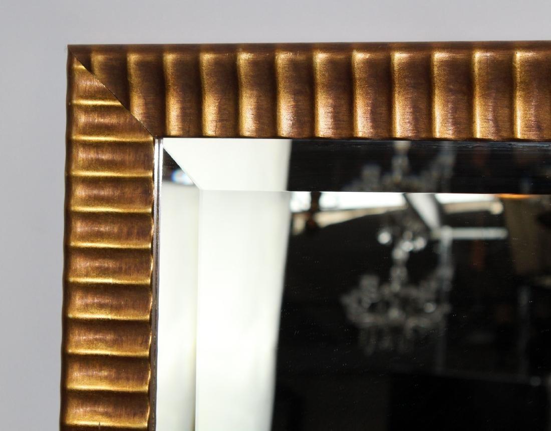 Gilt framed beveled mirror - 3