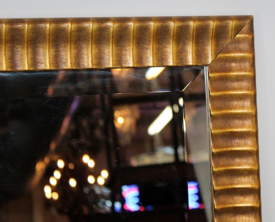 Gilt framed beveled mirror - 4