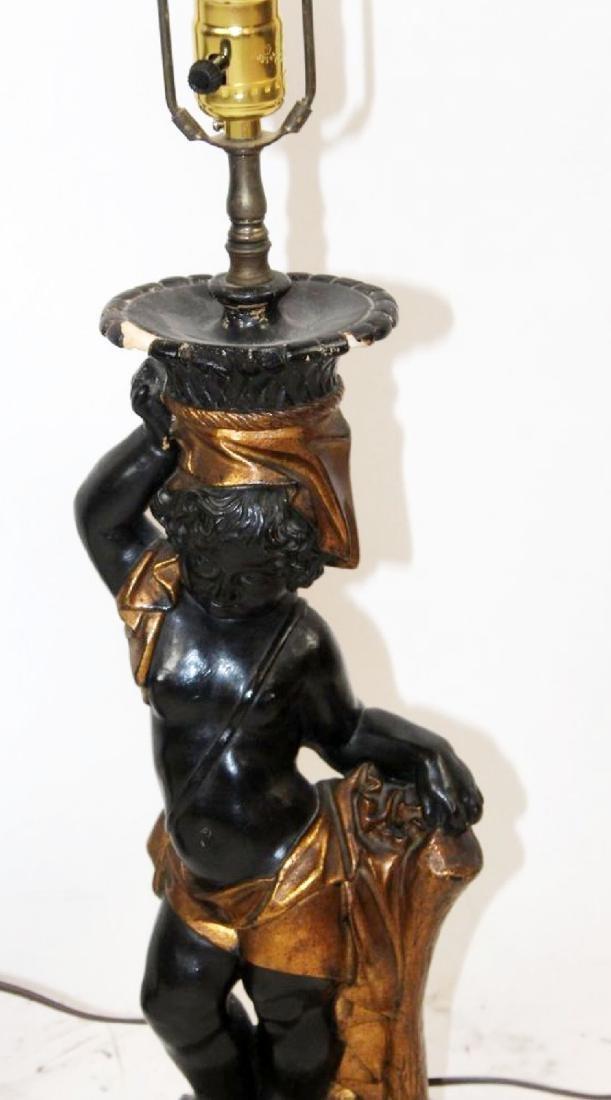 Pair of Venetian blackamoor lamps - 2
