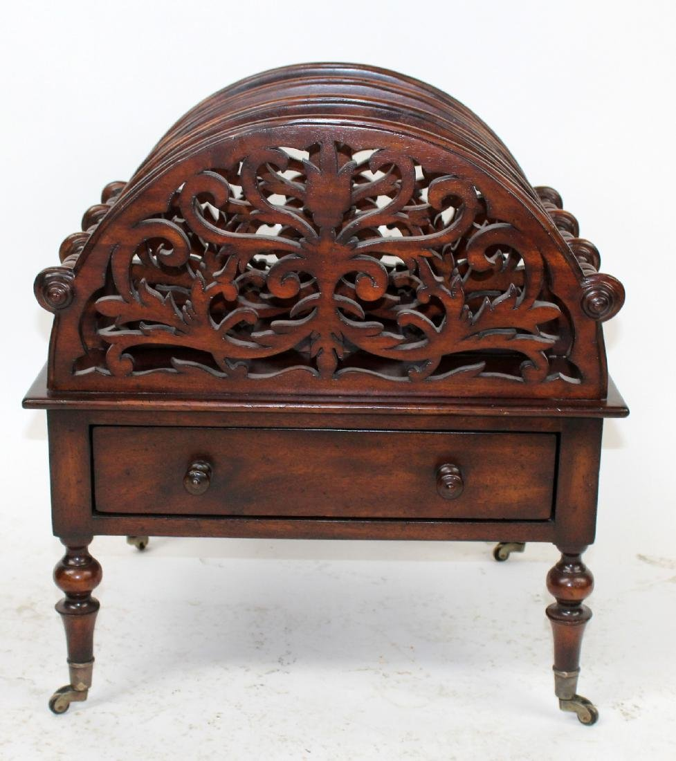 John Richards mahogany canterbury or magazine rack