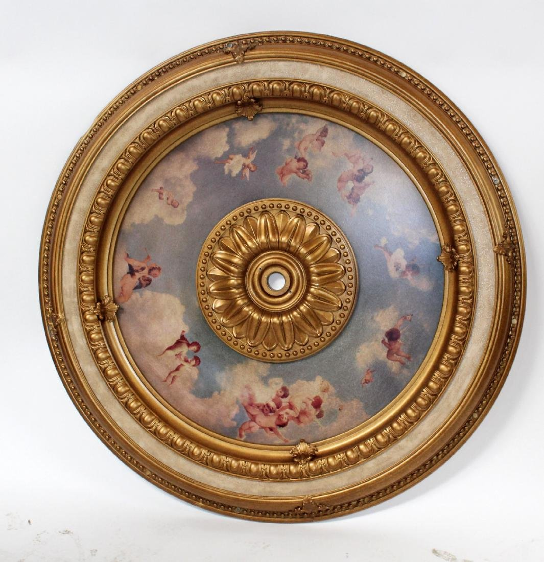 "48"" round ceiling medallion with cherubs"