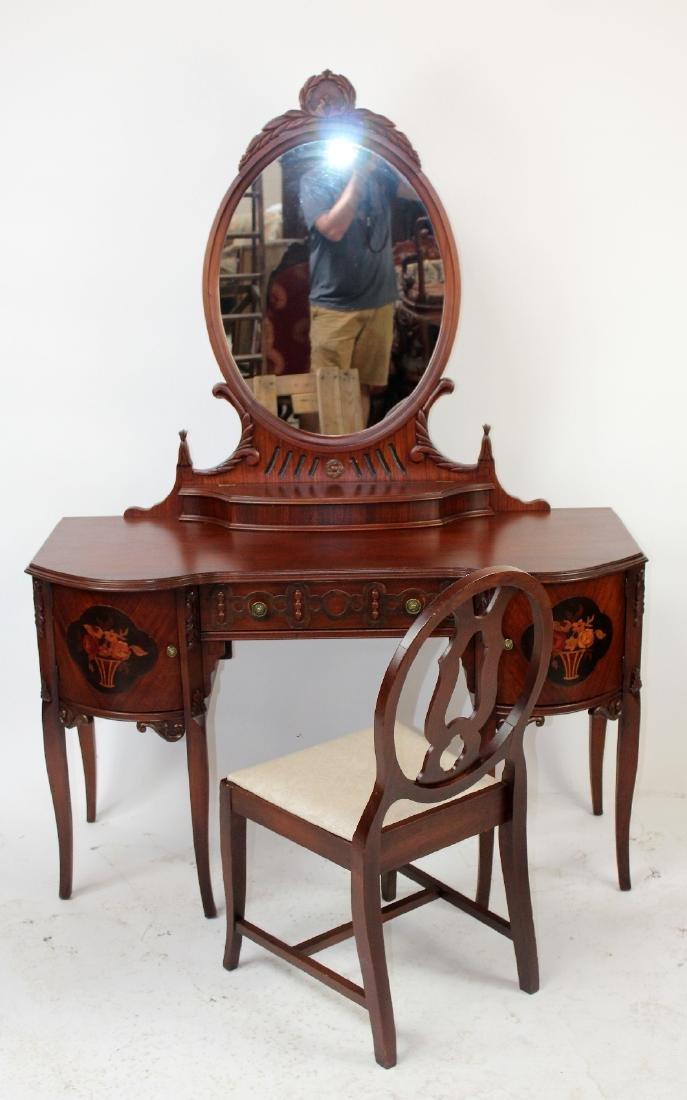American mahogany inlaid vanity