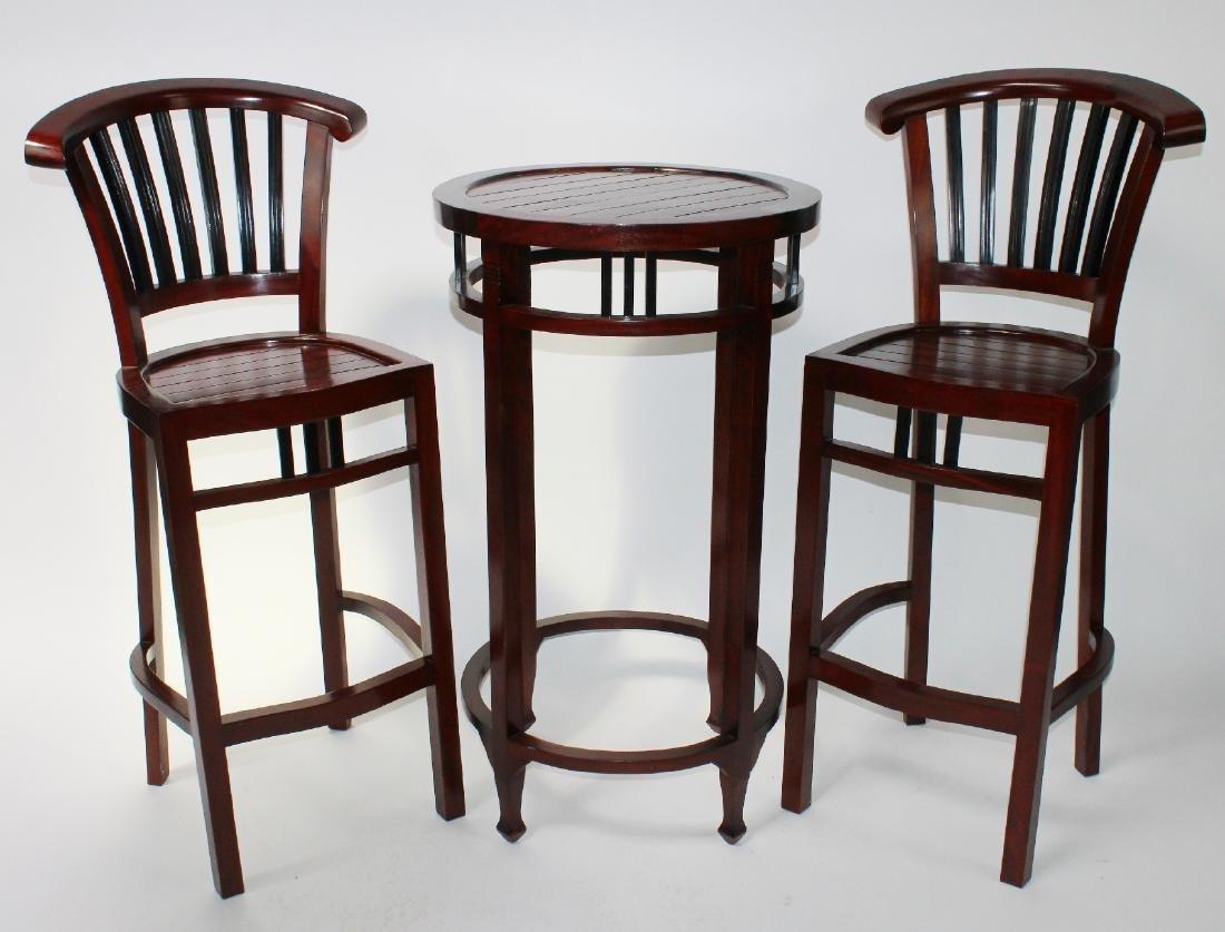 3 piece mahogany bar height bistro set