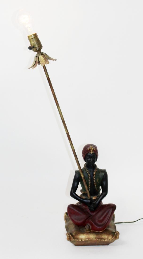 Mid century chalkware genie lamp
