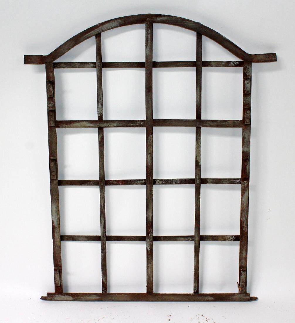 Antique iron window frame