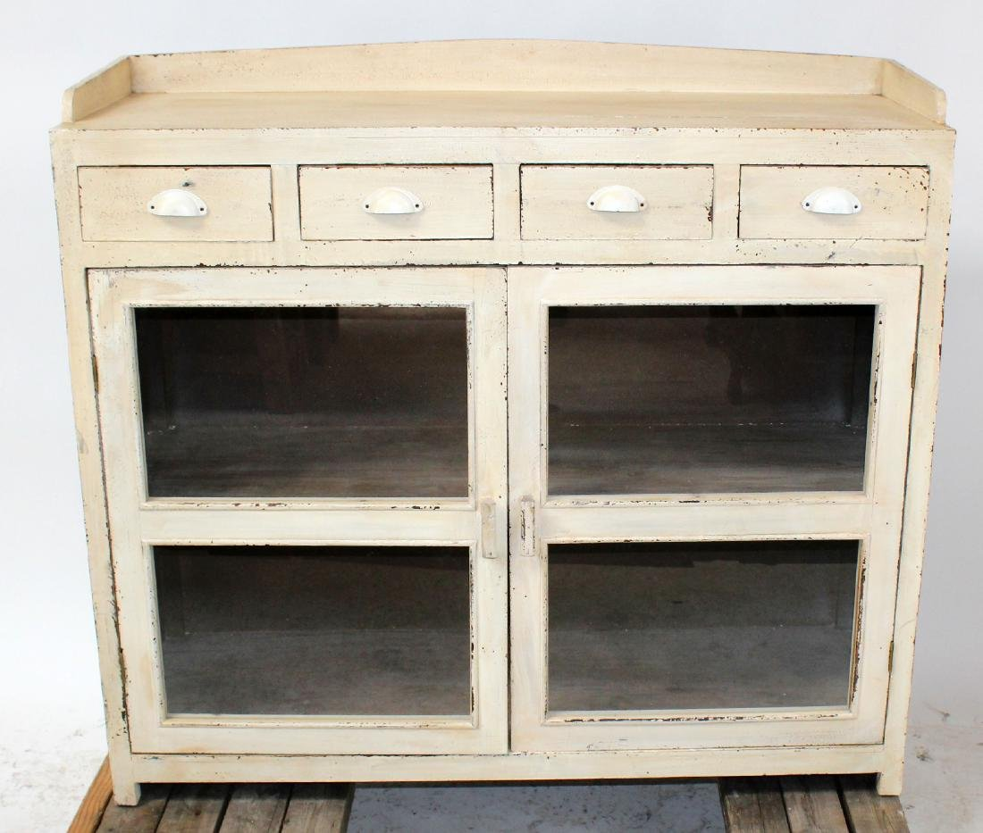 Painted farmhouse style cabinet with drawers
