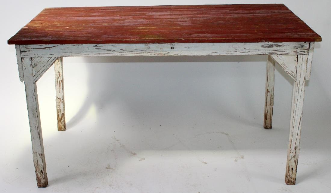 Farmhouse painted plank top table