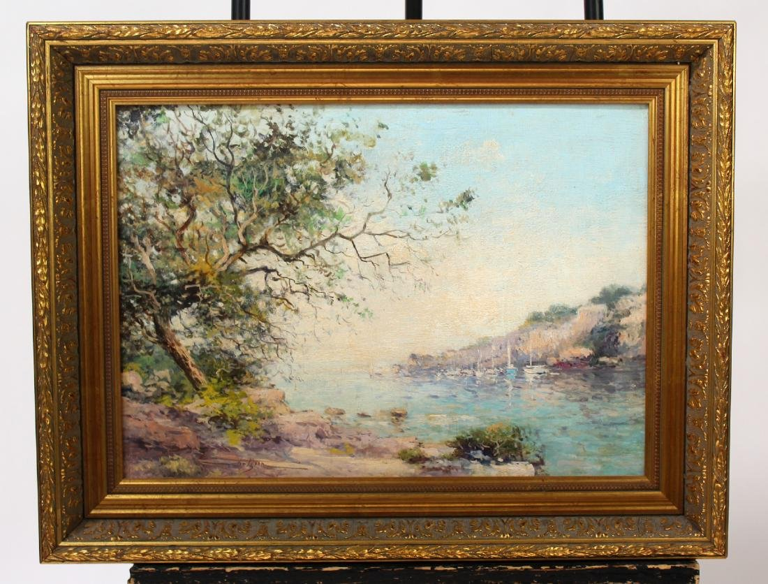 Jean Bernard Trotzier oil on canvas Impressionist scene