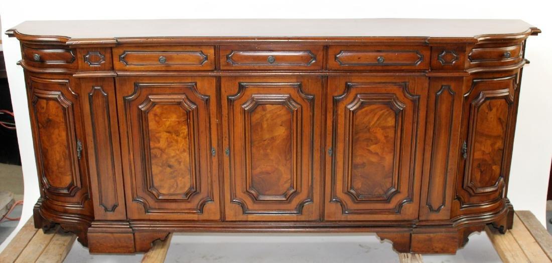 Tuscan style 4 door sideboard in mahogany