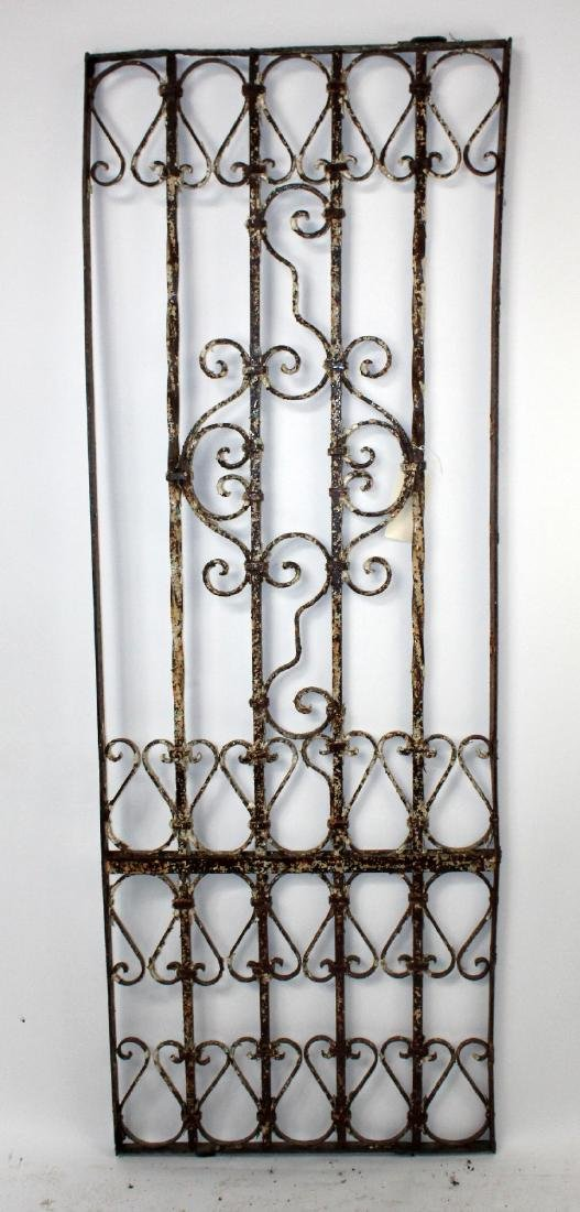 Scrolled wrought iron panel