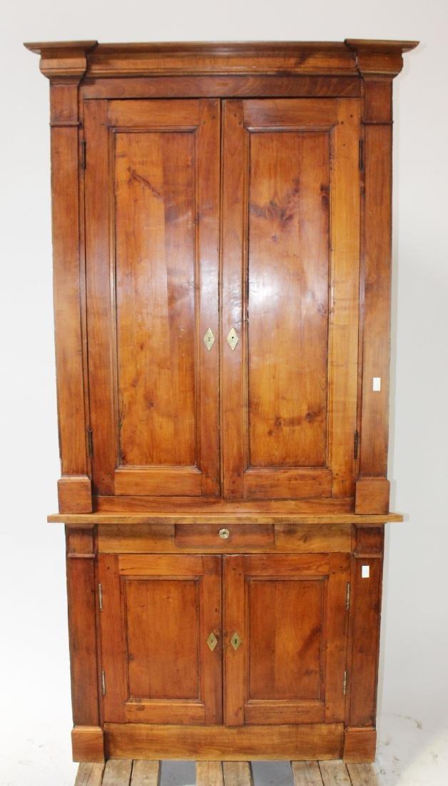 Louis Phillipe corner cabinet bookcase in walnut