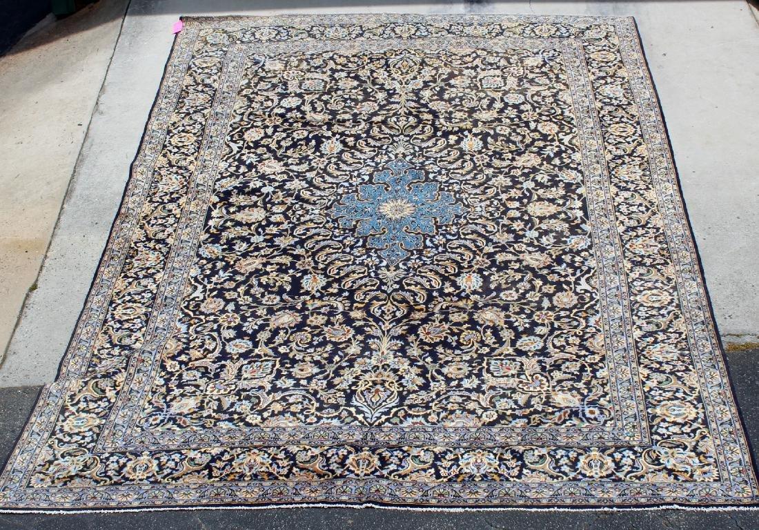 """10' x 13'9"""" Kashan wool carpet"""