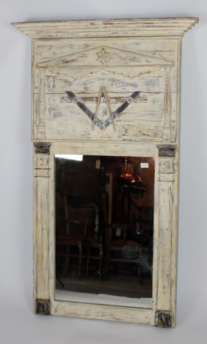 Rare French 19th century Masonic trumeau mirror