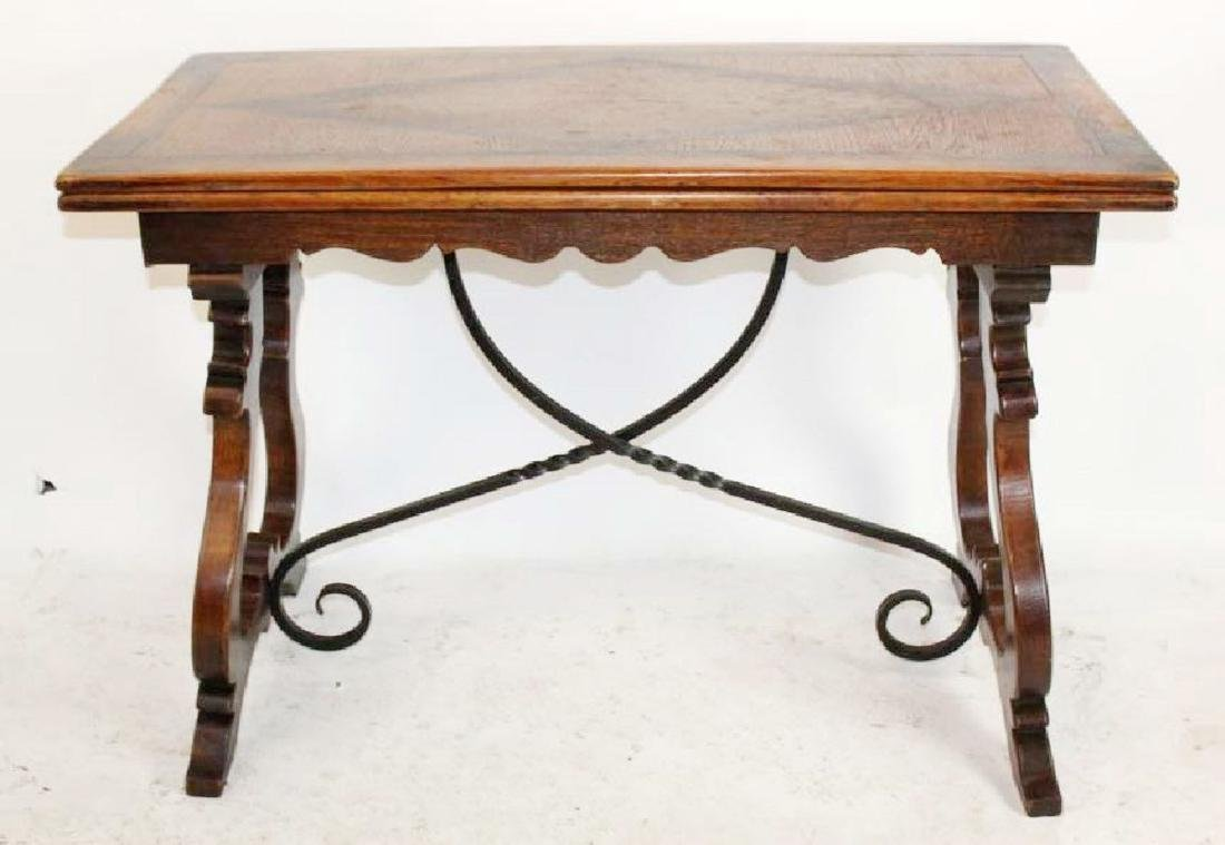 Italian trestle table in walnut