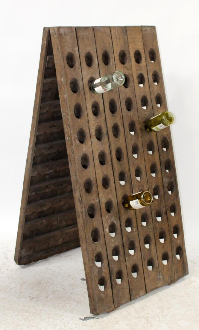 French A-frame champagne riddling rack