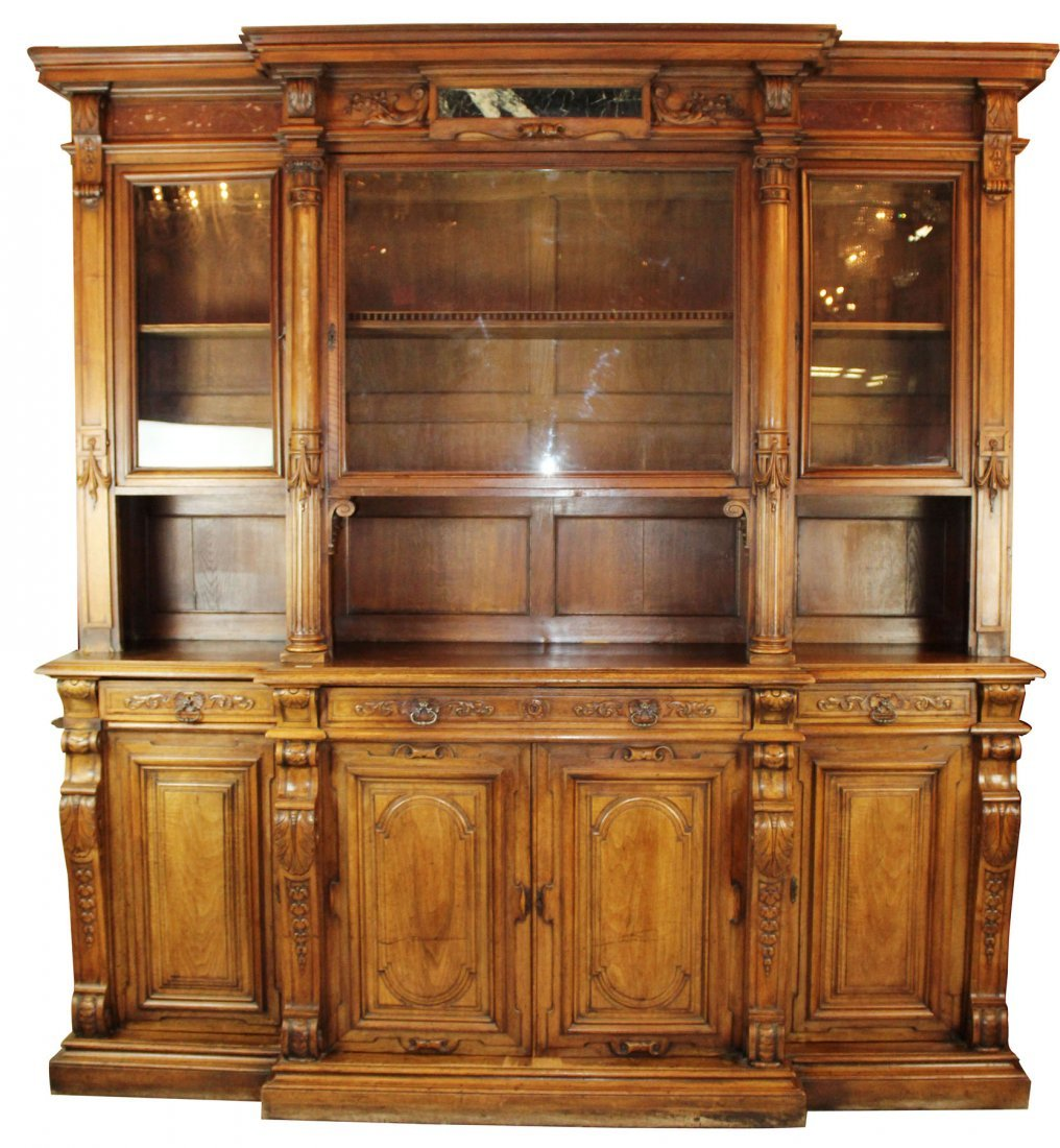 French neo-classical walnut bookcase