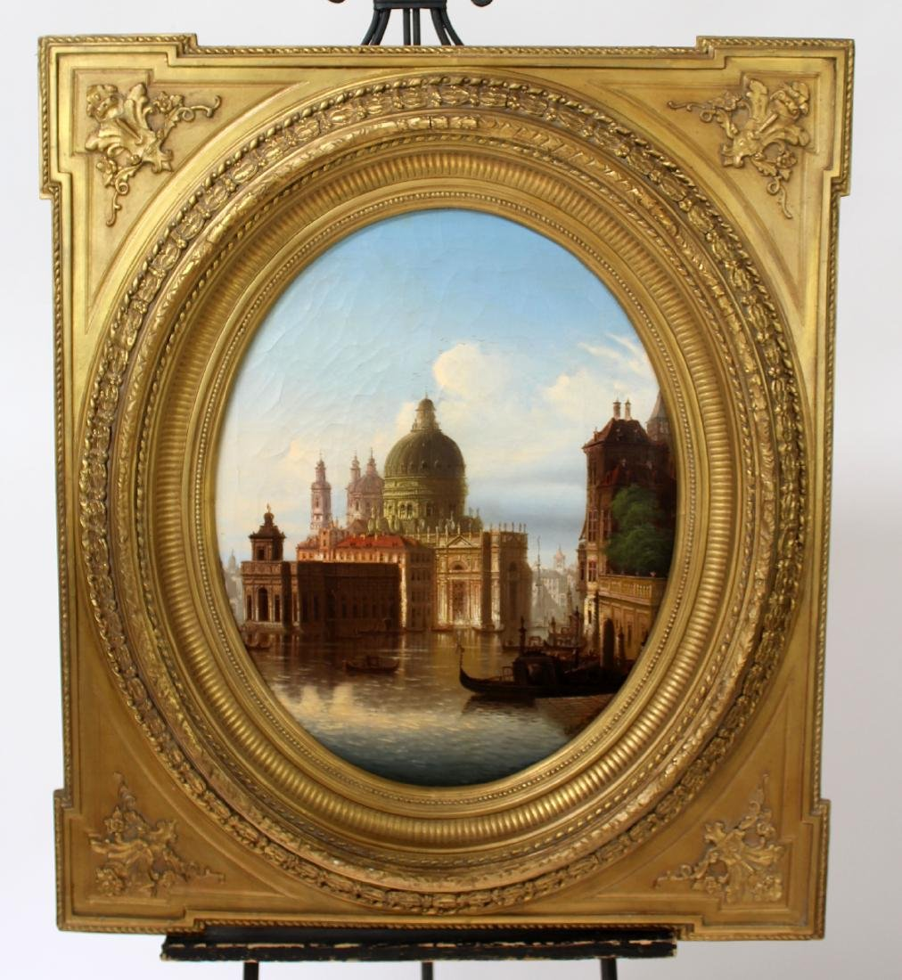 19th century Oil on canvas Venetian scene