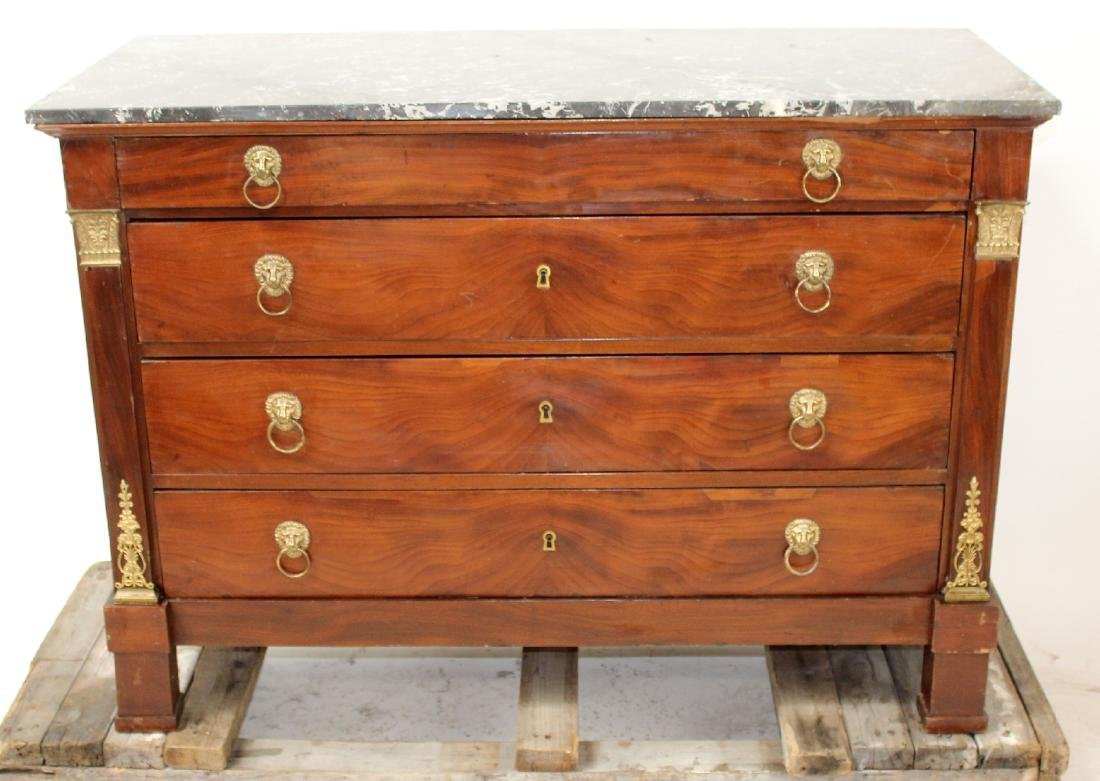 French Empire commode with marble top