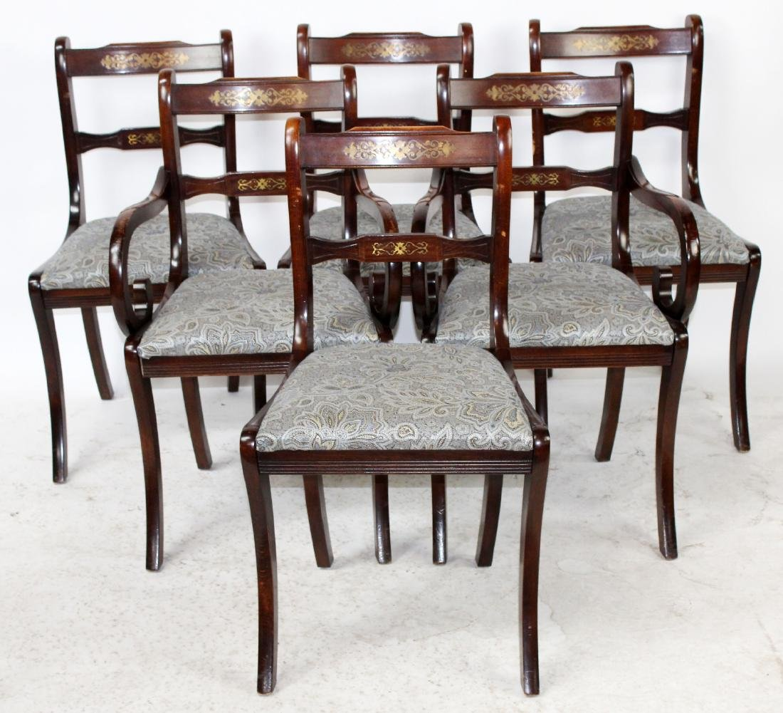 6 George III style mahogany dining chairs