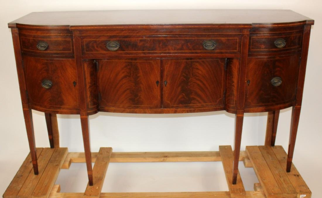 Sheraton style sideboard on tapered legs
