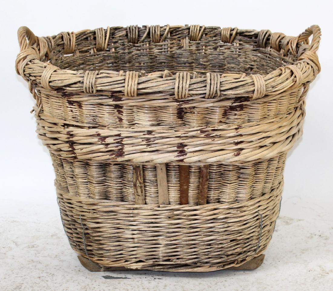 French oval wine harvest wicker basket