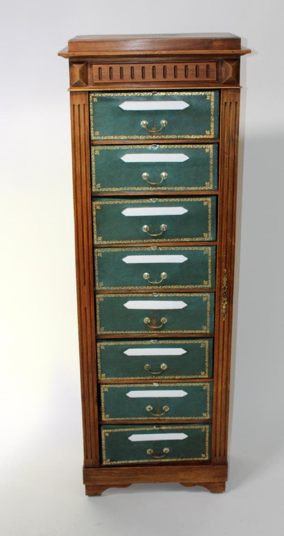 French 8 drawer cartonnier cabinet