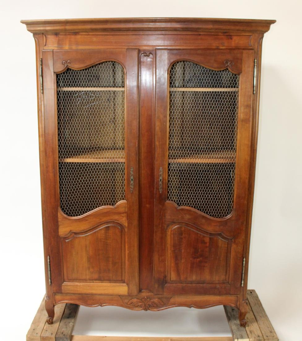 Vintage Provincial style armoire in walnut