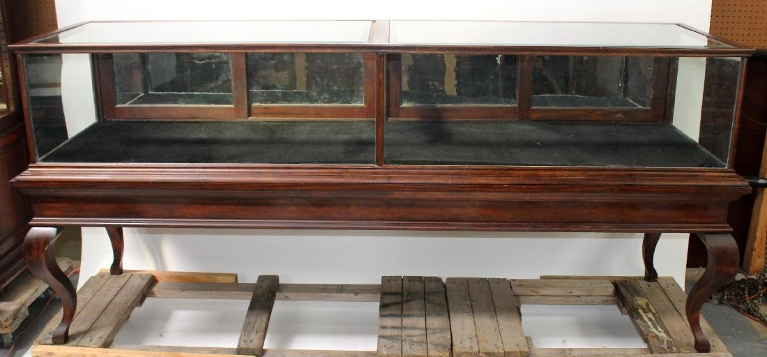 American mahogany showcase