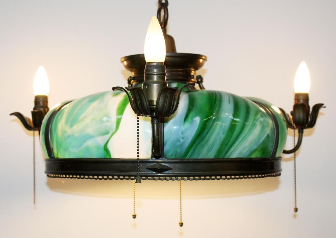 American slag glass hanging light
