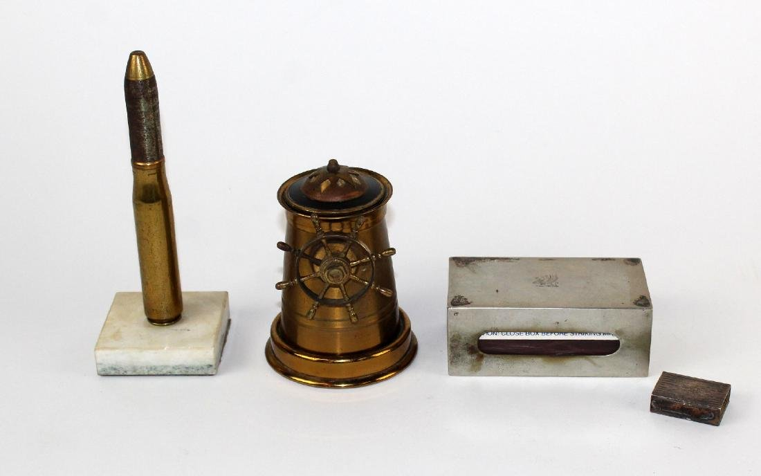 Collection of brass tobacciana