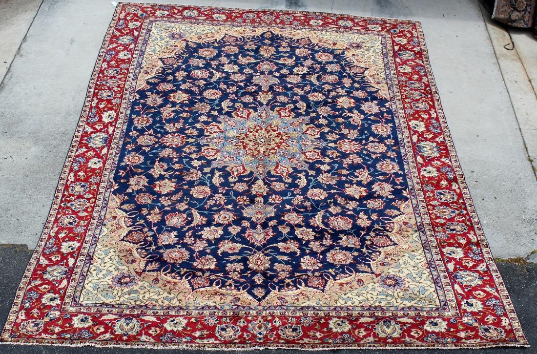 "9'6"" x 13'6"" Persian Isfahan wool carpet"