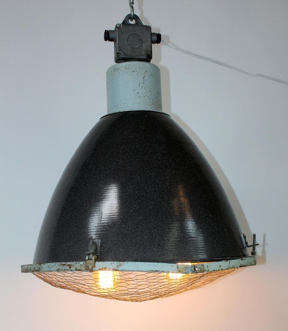 Industrial French metal can light