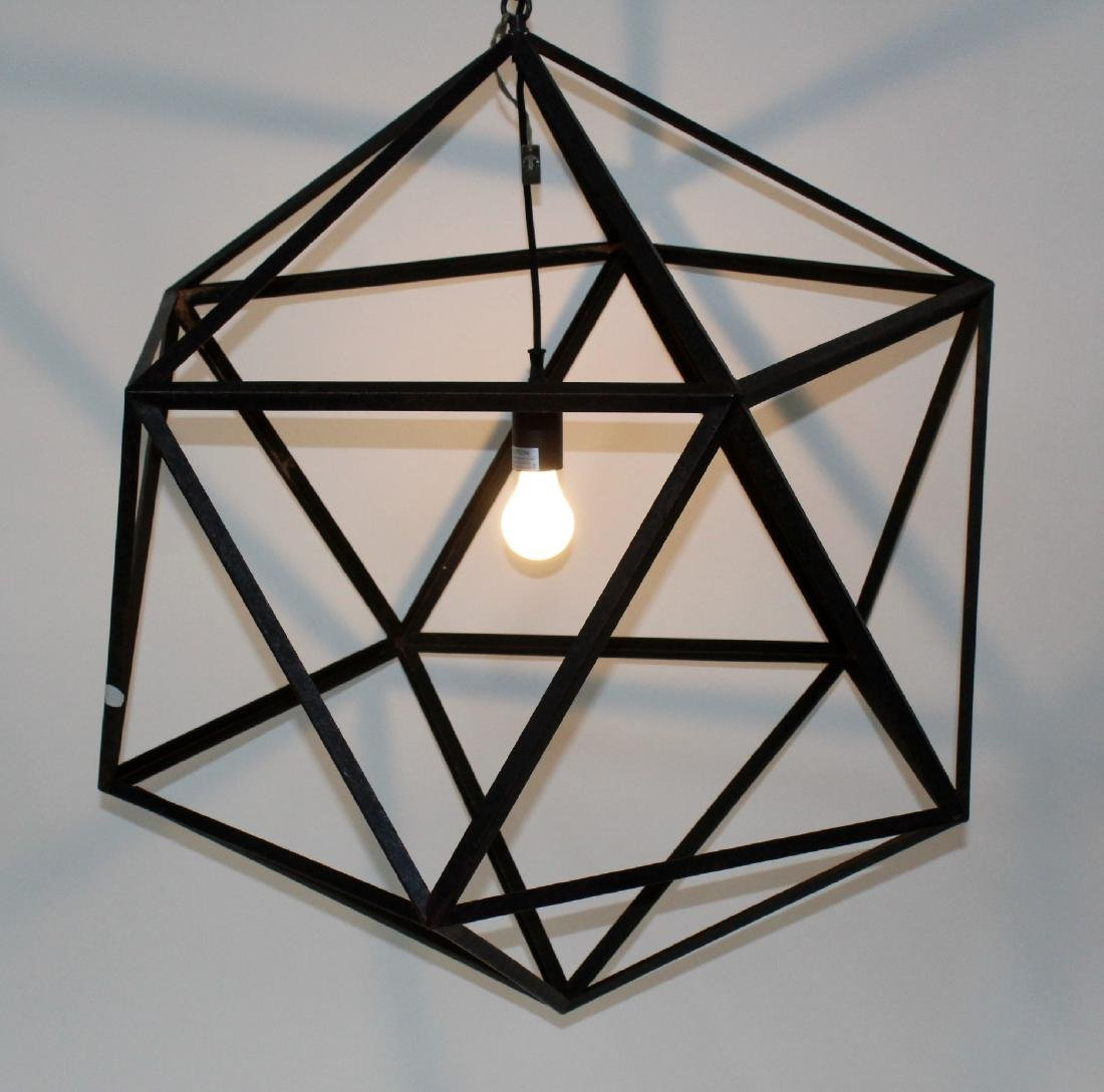Modern metal geometric chandelier
