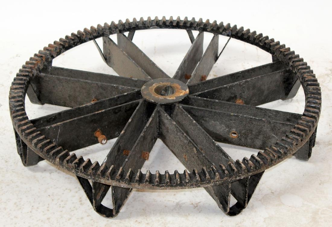 Antique iron gear cog