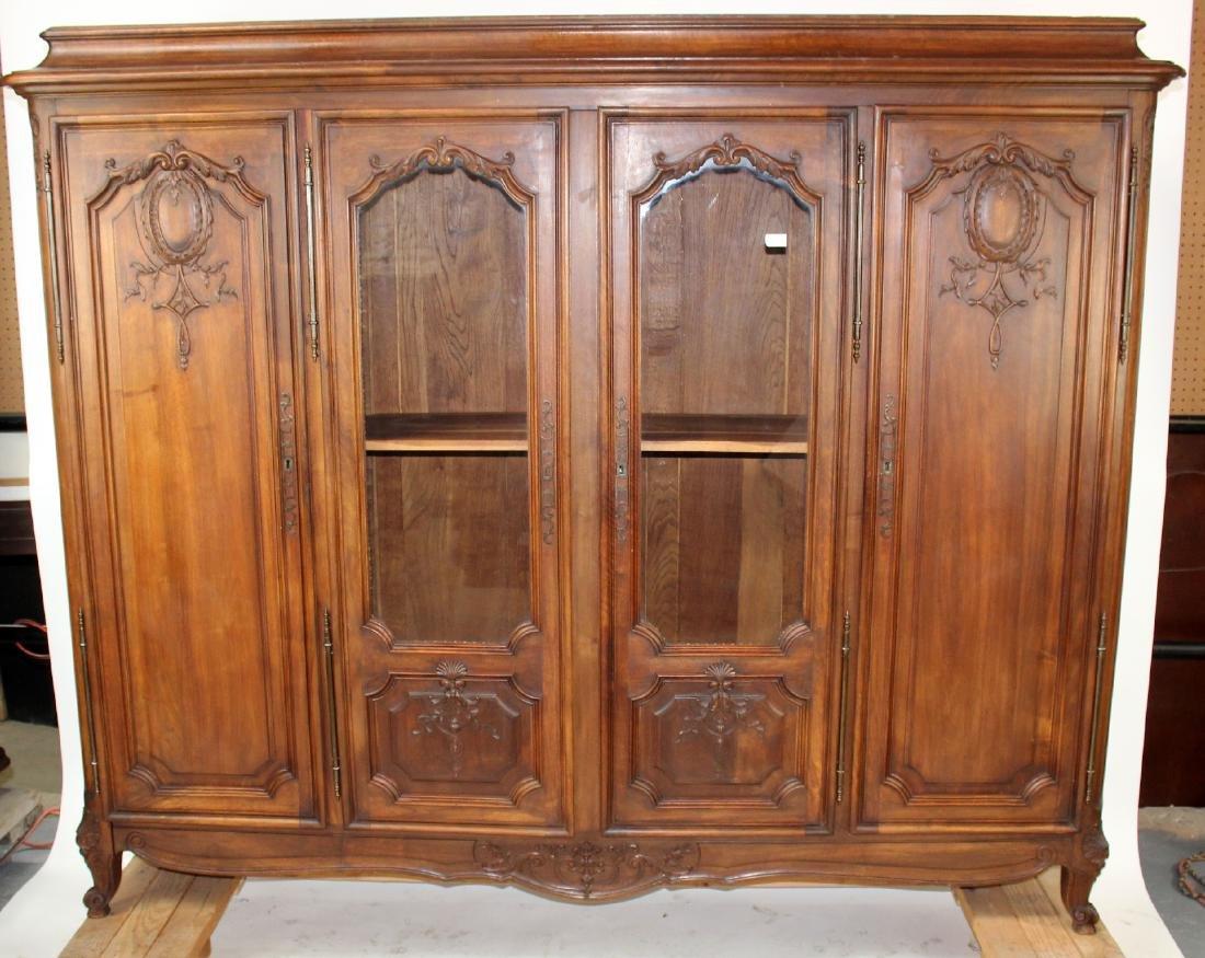 French Louis XV 4 door bookcase