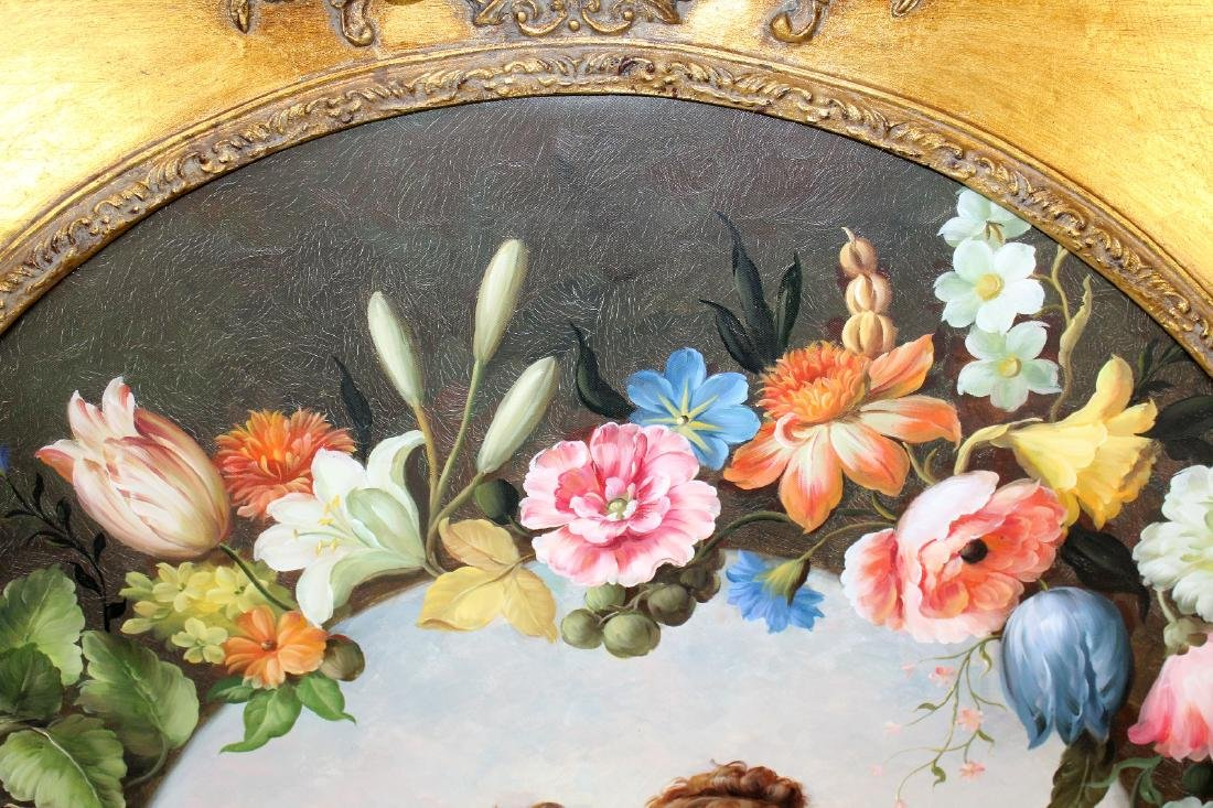Oil on canvas depicting cherubs - 2