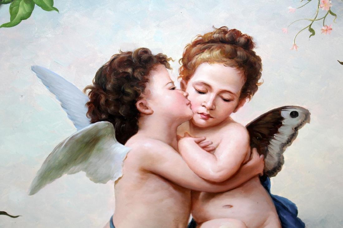 Oil on canvas depicting cherubs - 4