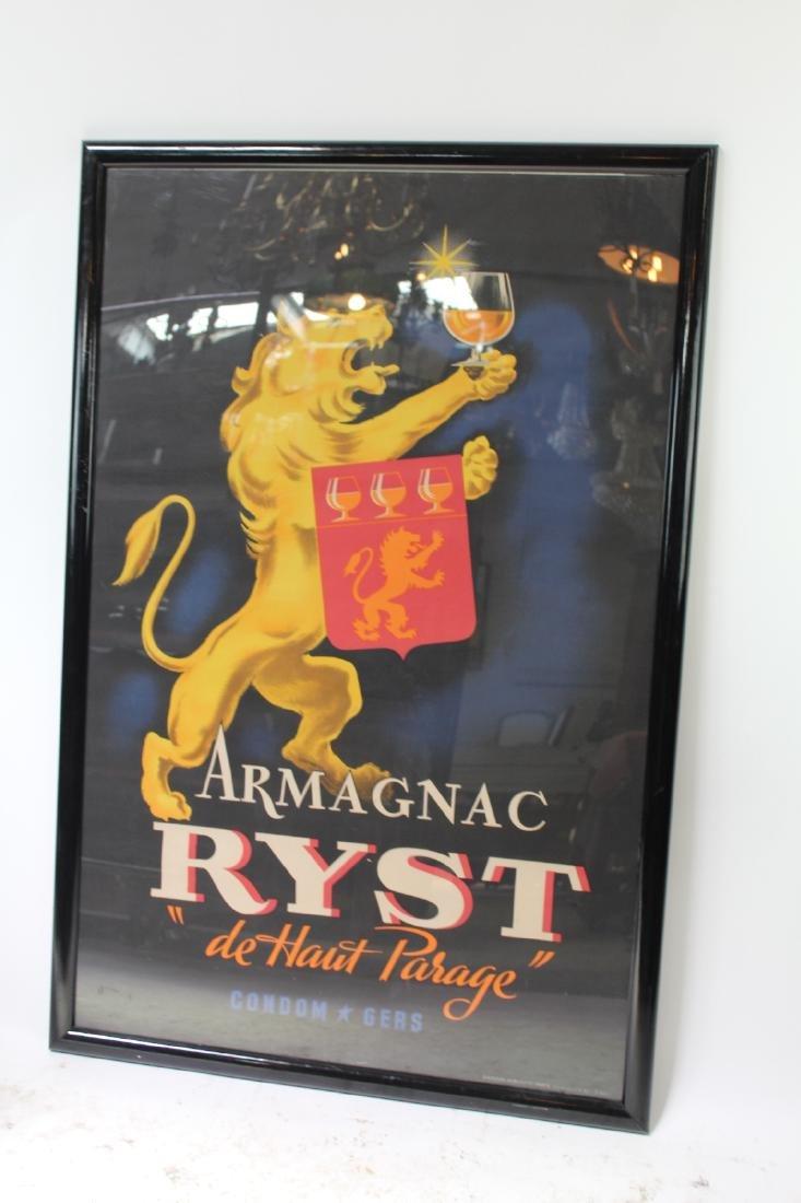 Art Deco Armagnac liquor advertisement poster