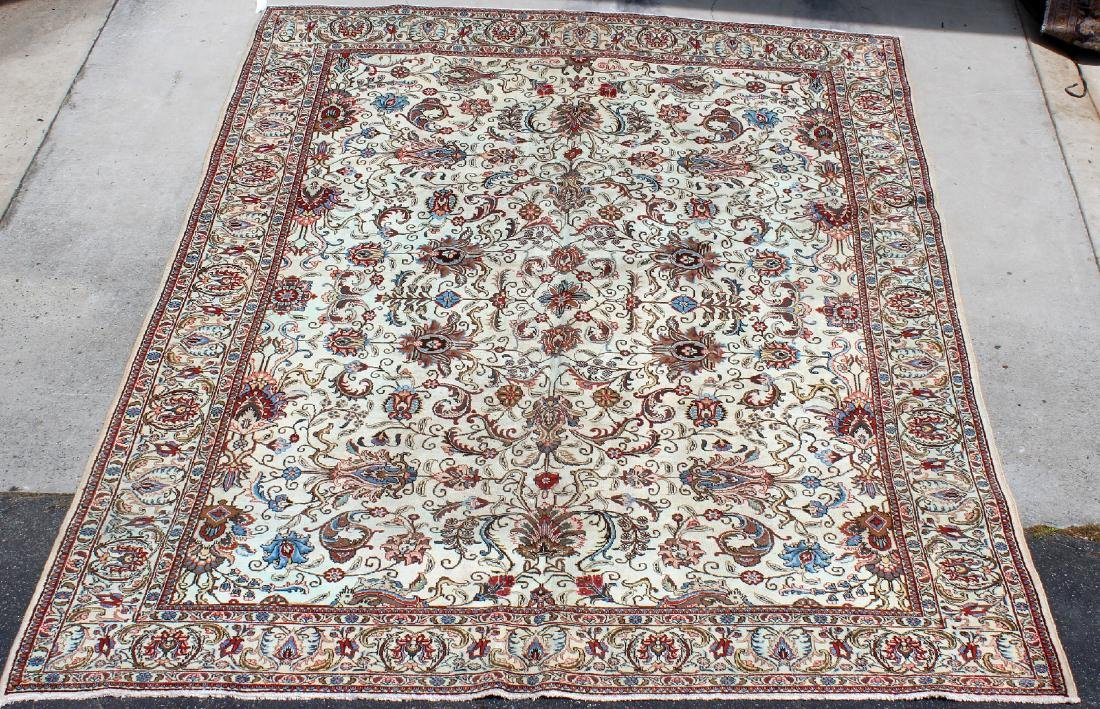 "9'9"" x 13'3"" Tabriz wool carpet"