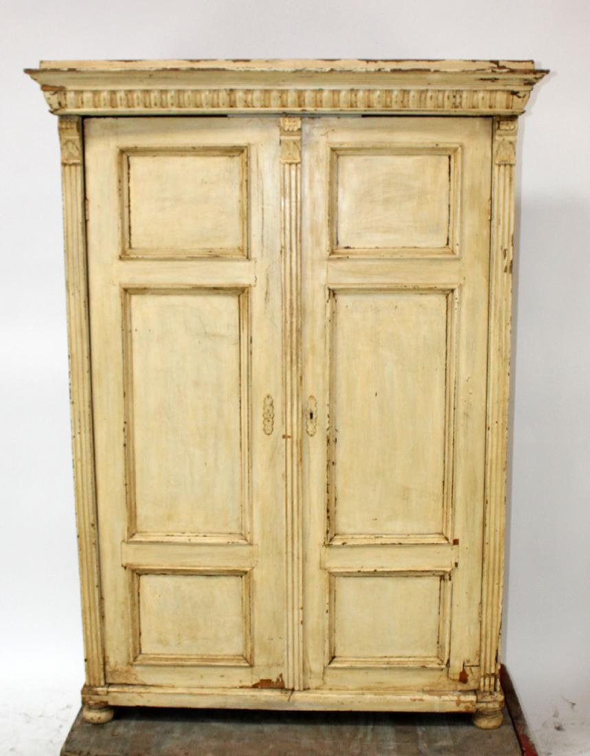 Painted French Provincial 2 door wardrobe