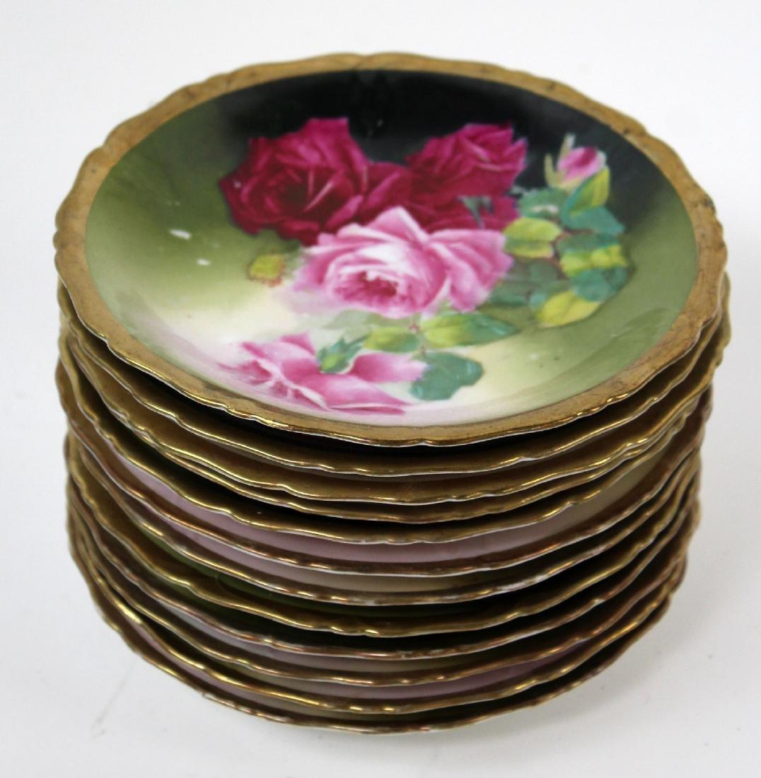 12 Prussian floral porcelain plates