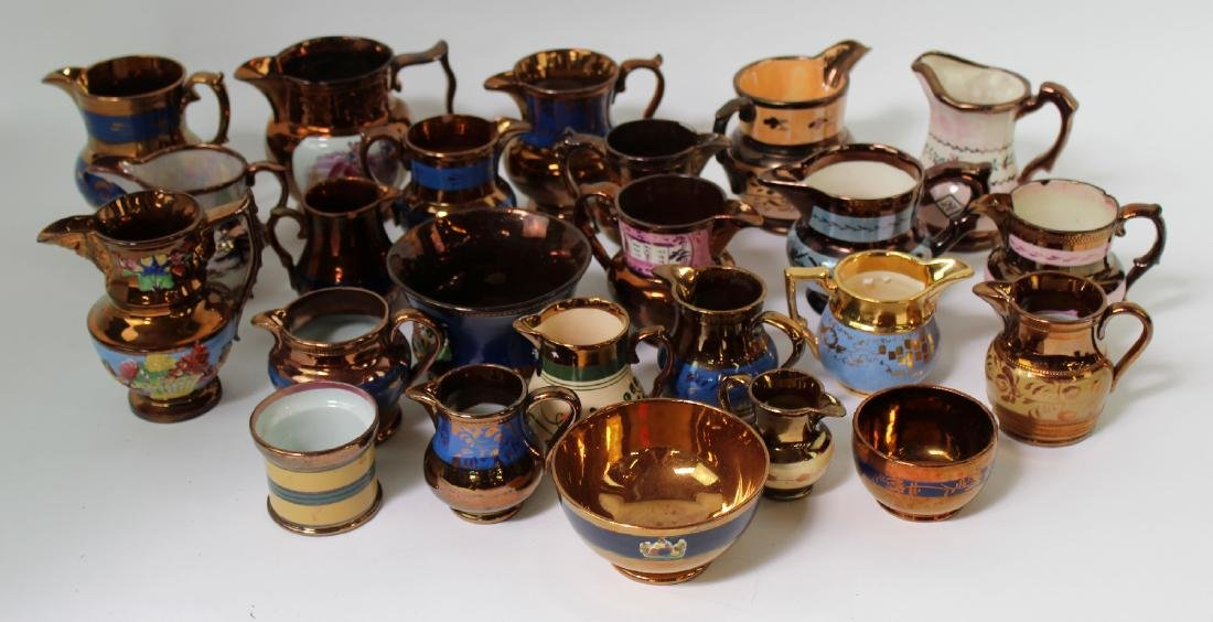 Collection of English Lusterware