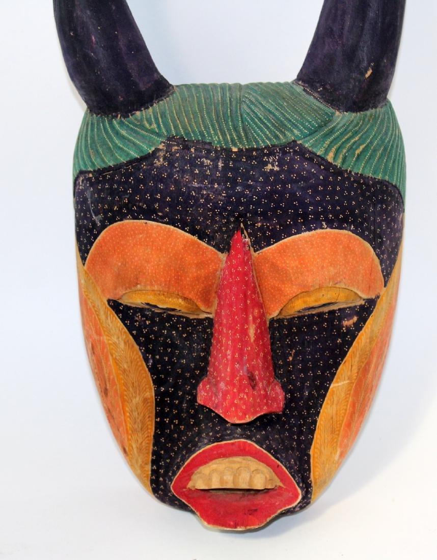 Carved wooden Batik mask