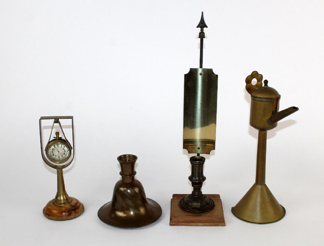 Collection of vintage brass decoratives