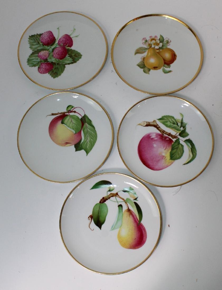 5 Heinrich Bavarian porcelain plates