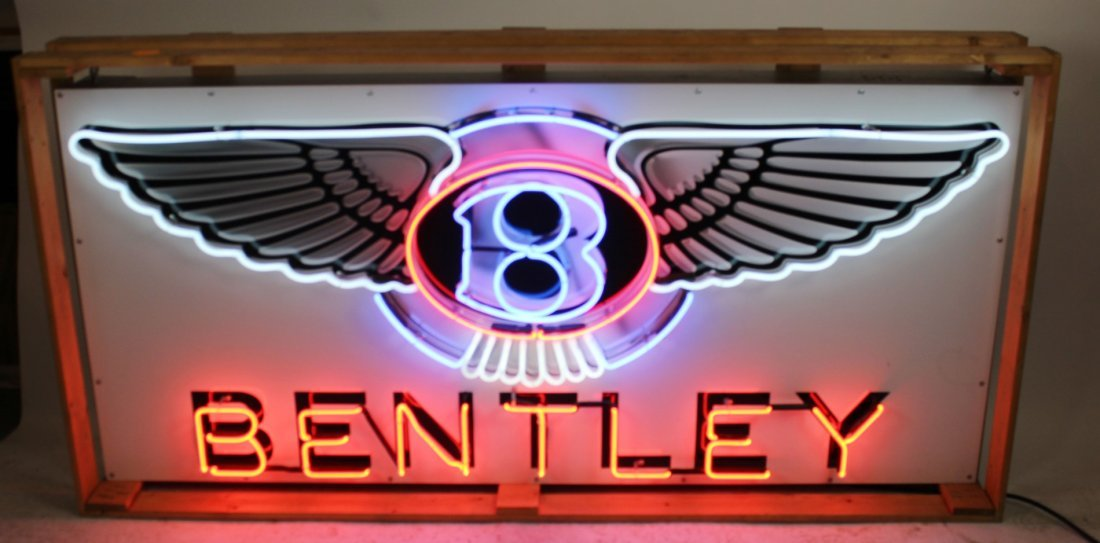 Bentley closed can Dealership neon sign