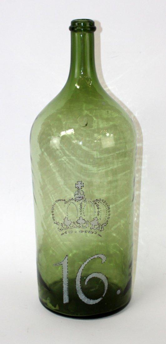 Hand painted Italian wine bottle