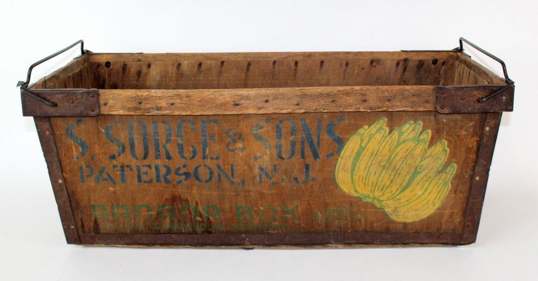 Vintage wooden banana box