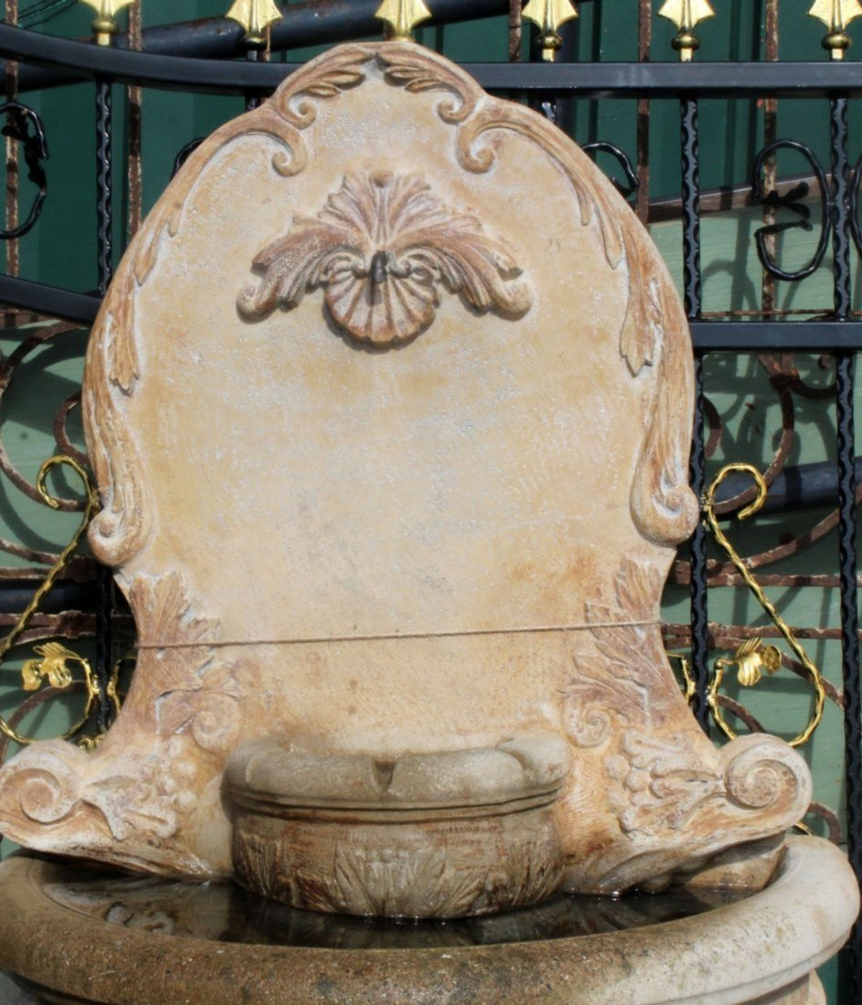 Cast stone wall fountain - 2